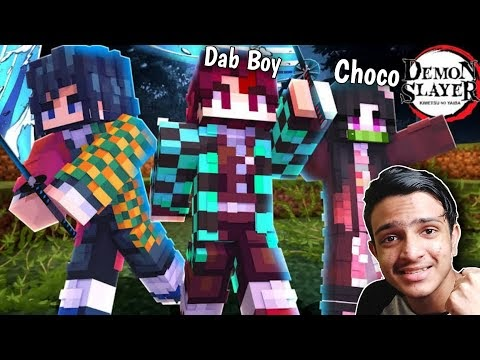 I Forced @ChocoHub To Play Demon Slayer Mod In Minecraft…..!!!!