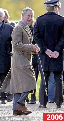 Prince Charles and Camilla, Duchess of Cornwall attending a Sunday church service at Sandringham House