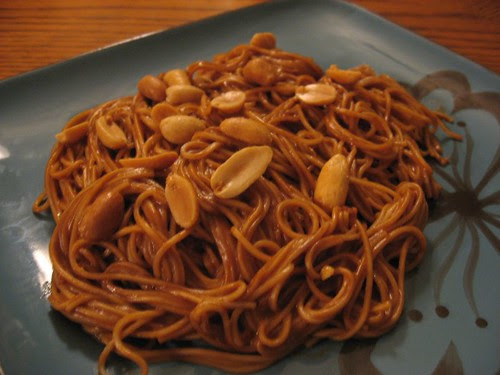 Somen Noodles with Spicy Peanut Sauce