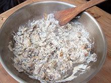 Tourte forestière aux champignons et aux marrons armagnac vegan vegetalien vegetarien