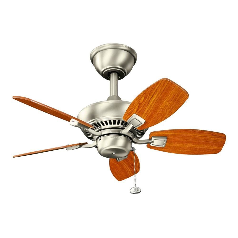 Details About 30 Inch Flush Mount Hugger Ceiling Fan W Light Kit Satin Light Kit Included