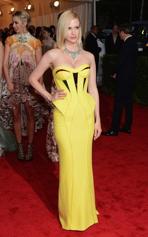 Costume Institute Gala Met Ball - May 7, 2012, January Jones