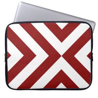 Red and White Chevrons electronicsbag