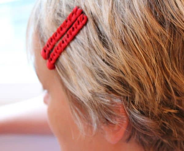 red diy bobby pins