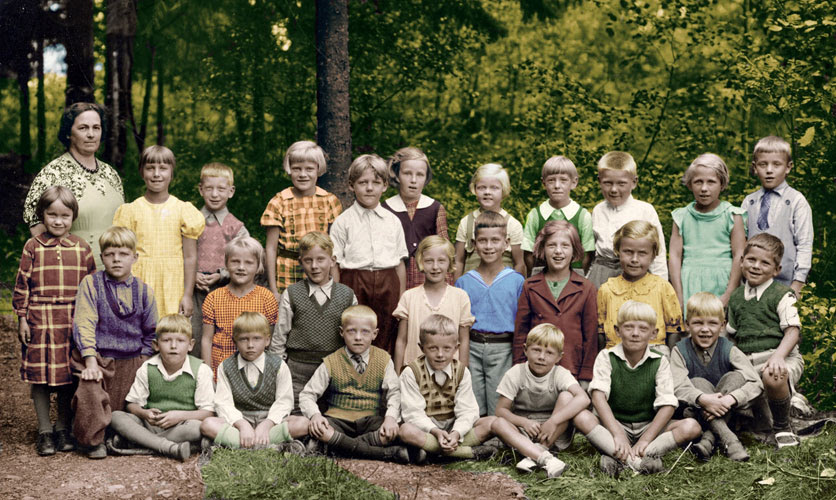 Color School Photo 1936