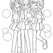 Dibujos Para Colorear Sakura Y Amigas A La Escuela Eshellokidscom