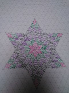 English paper pieced 6 point star