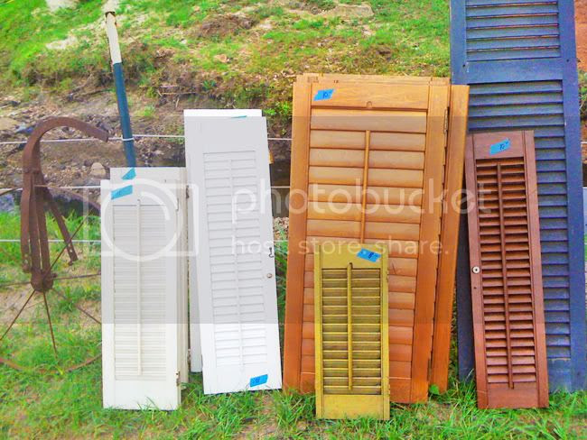 DIY shutters,canton trade days,oh louise blog,shutters photo holder,shutter picture holder,shutter mail