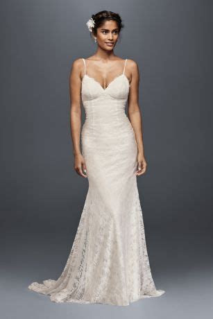 Soft Lace Wedding Dress with Low Back   David's Bridal