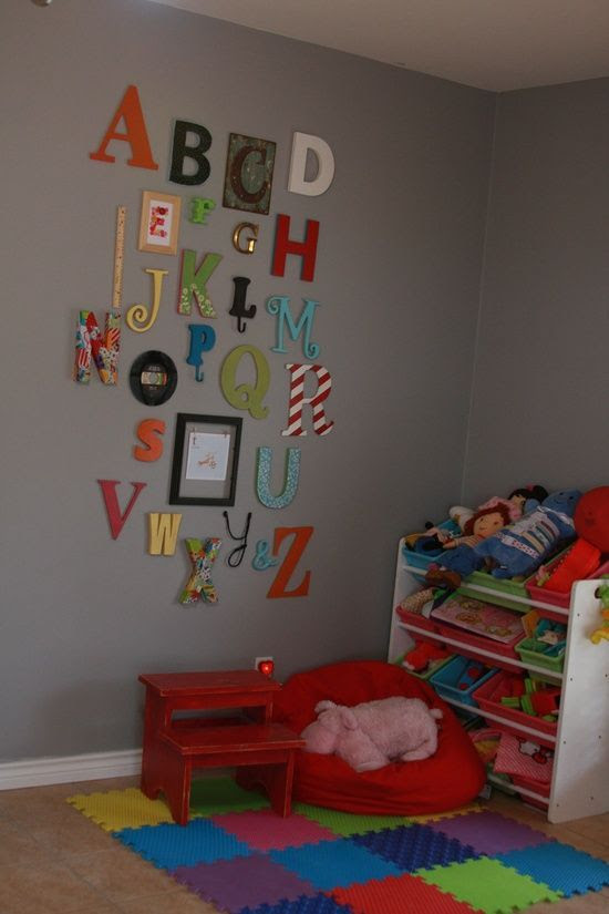 alphabet wall. in dr suess play room