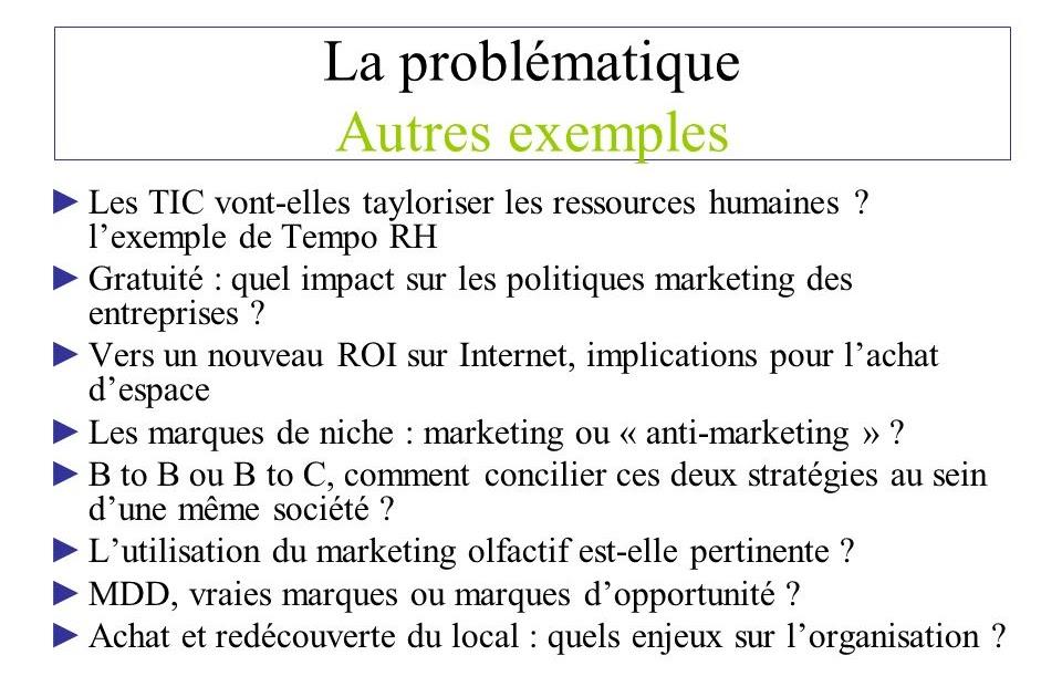 Exemple De Problématique D Un Mémoire - Exemple de Groupes