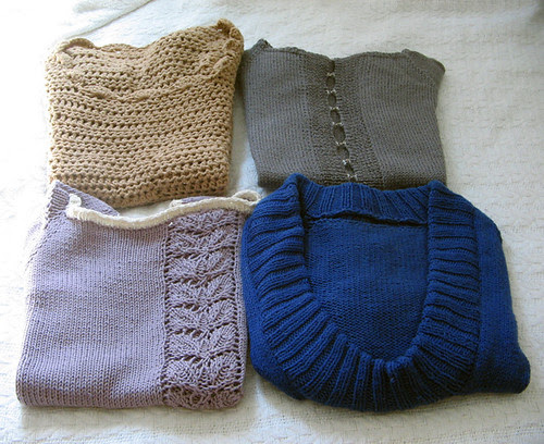 Short-sleeved sweaters