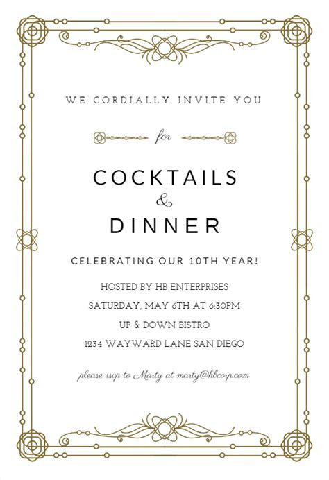 Classic Border   Business Event Invitation Template (Free