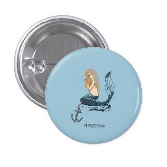 Mermaid Pin Redondo 2,5 Cm