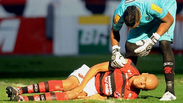 A lesão do Alex Silva, jogador do Flamengo.