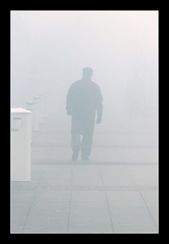 Man in the fog
