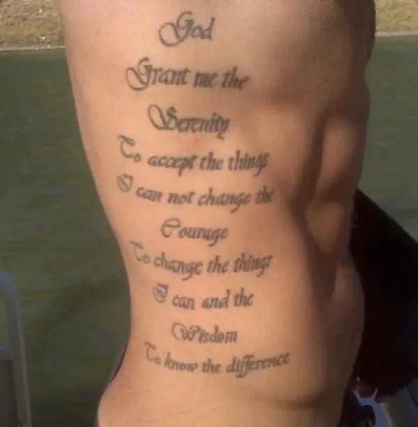 Tattoo Quotes Photos Rib Tattoo Quotes