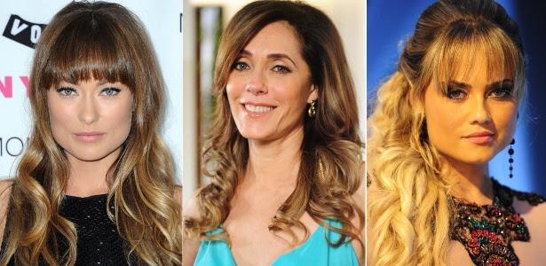 Olivia Wilde, Cristiane Torloni e Ellen Roche são algumas das famosas que apostam nas franjas