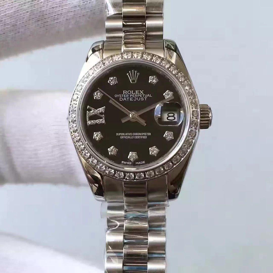 Rolex Lady Datejust 33mm Black Dial