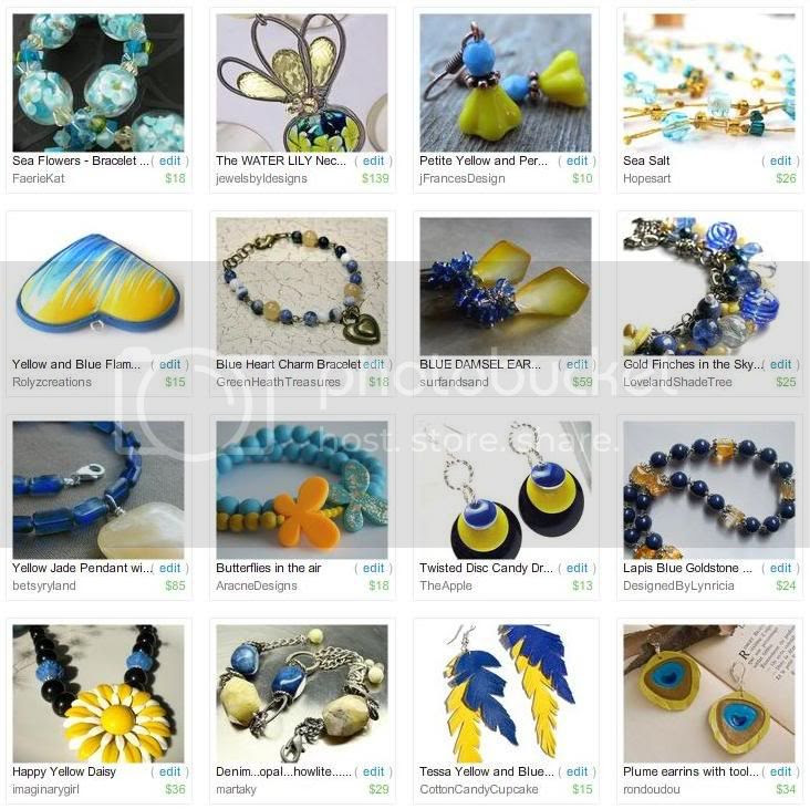 Etsy Picks: Blue and Yellow