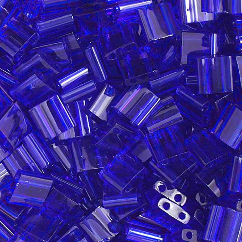 TL0151 Miyuki TILA - 2 Hole Japanese Flat Square - Transparent Cobalt