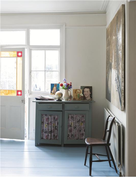 Farrow and Ball Green Blue painted furniture