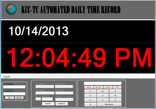 KCC-TC Automated Daily Time Record   Free source code, tutorials ...