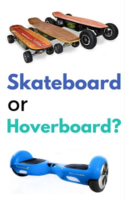 Hoverboards versus Electric Skateboards