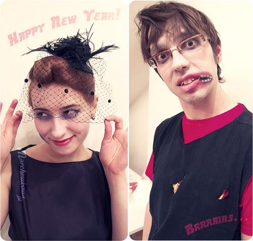 szafiarka, Sylwester, karnawał, przebranie, zombie, zombiak, makijaż