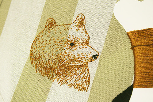 Bear embroidery