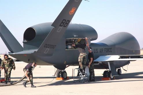 Beale tests Global Hawk