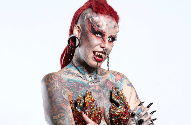 Mexican Vampire Lady Has Whopping 49 Body Modifications