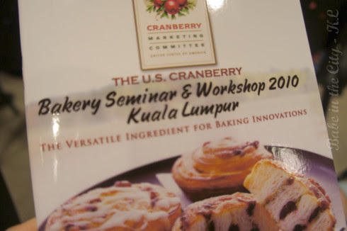 The US Cranberry Bakery Seminar & Workshop 2010