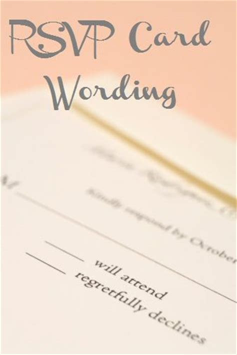 Wedding RSVP Wording Examples   Wedding, Design and