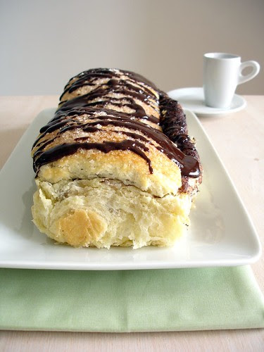 Brioche filled with chocolate ganache