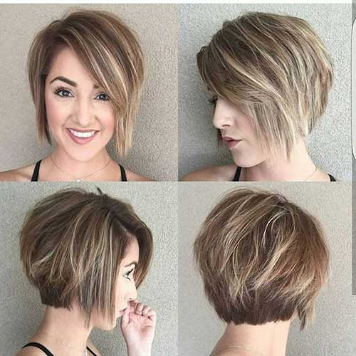 35 Best Layered  Short  Haircuts  for Round  Face  2019 Short