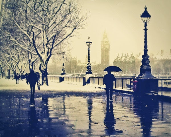 London photography for sale, Rain, British, London Art, Umbrella, UK London Wall Art 8x10 - LondonDream