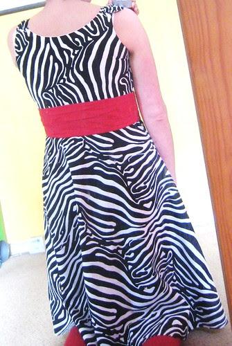 Zebra Sis Boom Jamie dress back