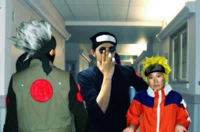 kakashi meets with ebisu and naruto