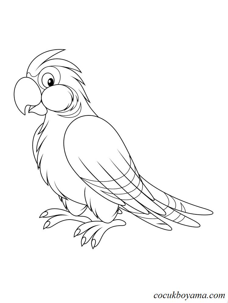 Muhabbet Kuşu 2 ücretsiz Boyama Resimleri