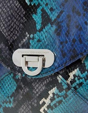 Image 2 ofFrench Connection Envelope Snakeskin Clutch Bag