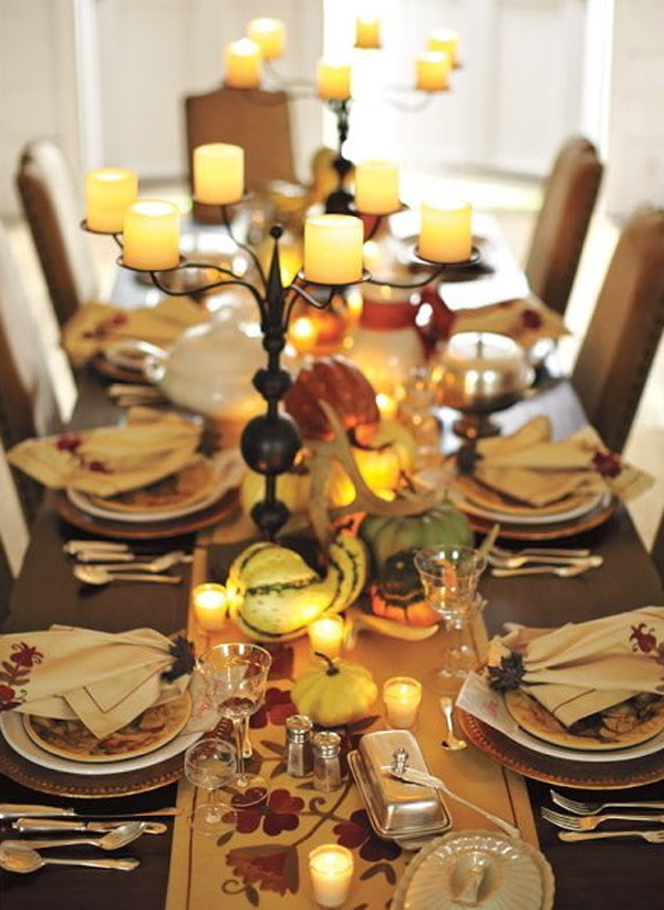 20 Gorgeous And Awesome Thanksgiving Table Decorations  Home Design And Interior