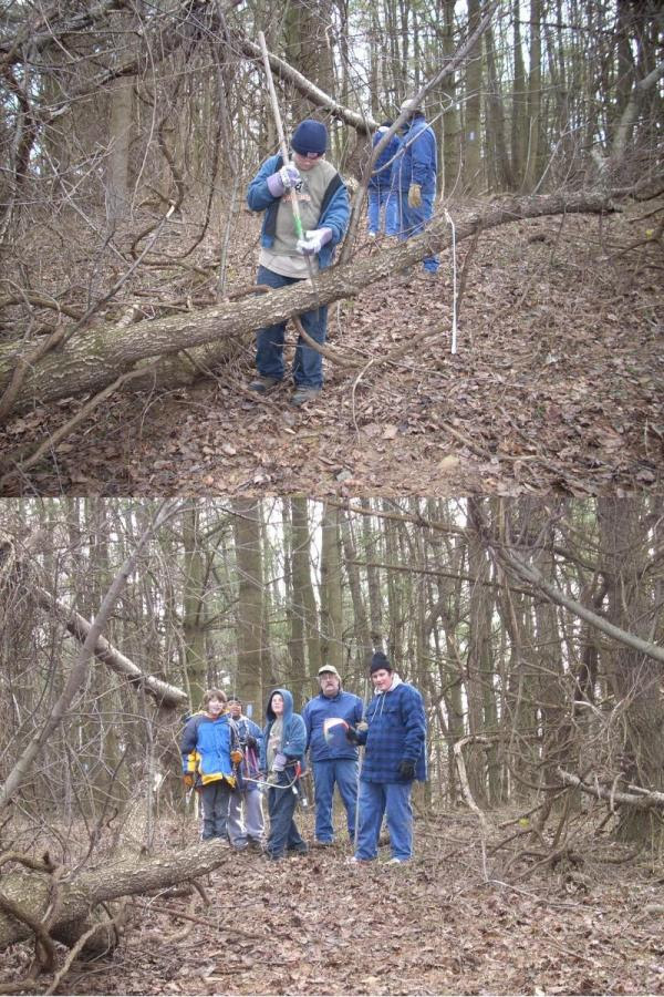 Troop 350 takes out a maple limb