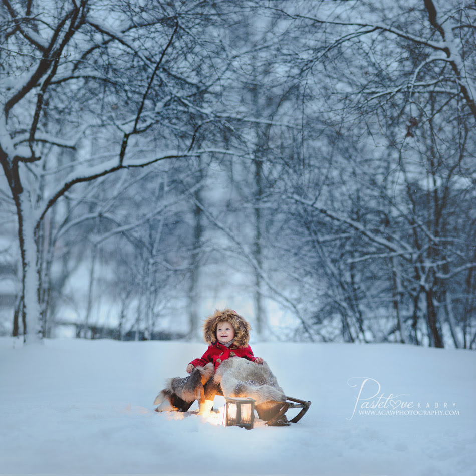 zima dziecko