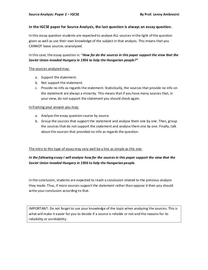 how to write a history primary source essay