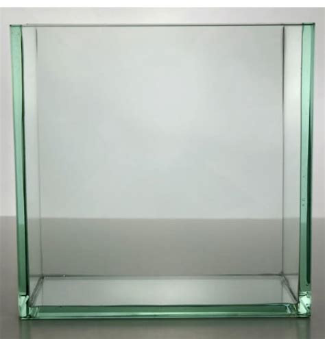 """Contemporary Vases 8"""" Square Thick Glass"""
