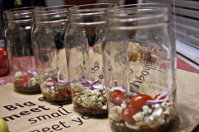 salad in a jar lineup