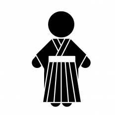袴シルエット イラストの無料ダウンロードサイトシルエットac