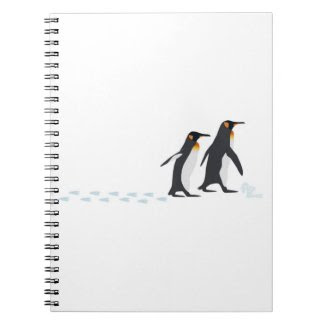Penguin Prints Notebook Big notebook