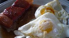 country ham, eggs, red eye gravy